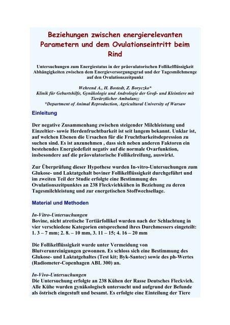 Untersuchungen zum Energiestatus in der ... - AET-d