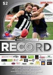 BFNL Record Round 2.indd - Ballarat Football League