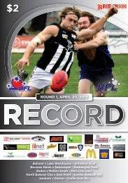 ROUND 1, APRIL 20, 2013 - Ballarat Football League