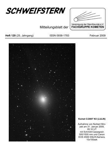Schweifstern Nr. 129 (Februar 2009) - Fachgruppe Kometen