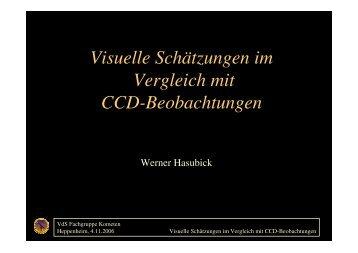 Visuelle Schätzungen im Vergleich mit CCD-Beobachtungen