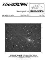 Schweifstern Nr. 106 - Fachgruppe Kometen