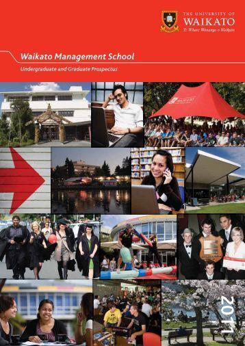 2011 Undergraduate & Graduate Prospectus - Waikato ...