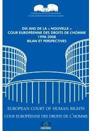 Cour européenne des droits de l'homme 1998-2008