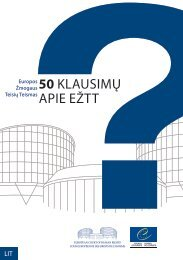 DUK - European Court of Human Rights - Council of Europe