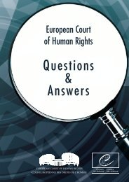Questions and Answers - European Court of Human Rights ...