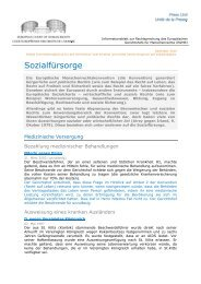 Factsheet Social welfare