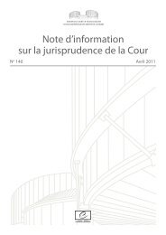 Note d'information n° 140 (avril 2011) - Council of Europe