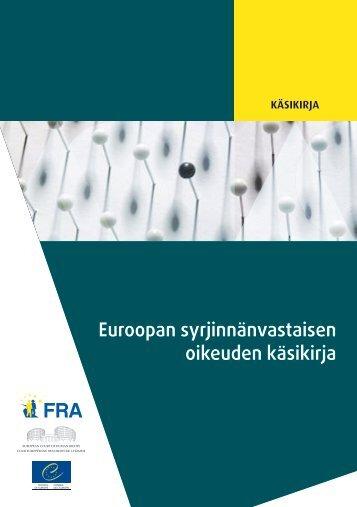 Euroopan syrjinnänvastaisen oikeuden käsikirja - European Court of ...