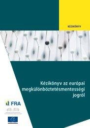 Handbook on European non-discrimination law - European Court of ...