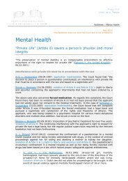 Factsheet Mental Health - European Court of Human Rights