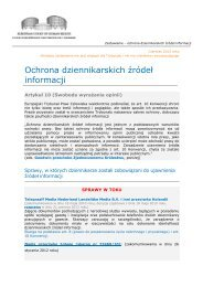 Factsheet Protection of journalistic sources