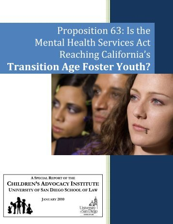 Transition Age Foster Youth? - Children's Advocacy Institute