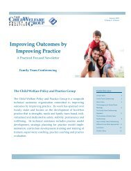 Improving Outcomes by Improving Practice - Our Kids