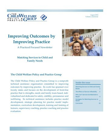 Improving Outcomes by Improving Practice - Child Welfare Policy ...