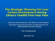 Tian Chengchuan-Low Carbon Economy Development in China