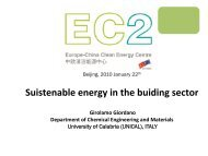 Girolamo GIORDANO: Sustainable Energy in the Building Sector