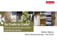 Cradle to Cradle Implementation at Desso BV