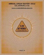 2012 Annual Group Report - SolarWorld AG
