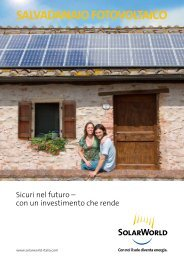SALVADANAIO FOTOVOLTAICO - SolarWorld AG