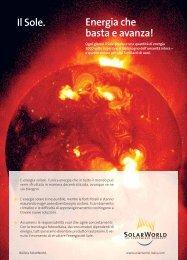 Energia che basta e avanza! Il Sole. - SolarWorld AG
