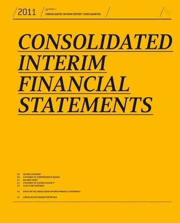 Consolidated interim financial statements - SolarWorld AG