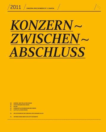 Konzern-Zwischenabschluss 3. Quartal 2011 - SolarWorld AG