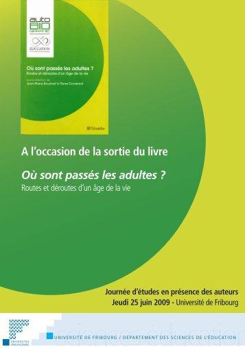 flyer - Blog @unifr - Université de Fribourg