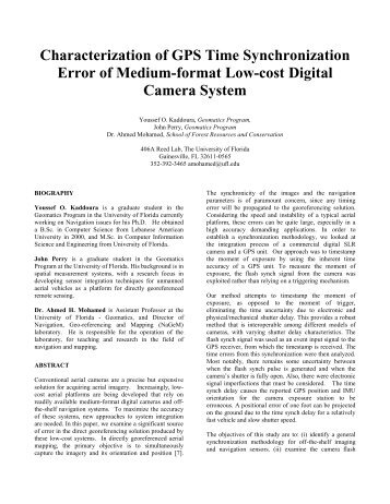 Characterization of GPS Time Synchronization Error of Medium-format