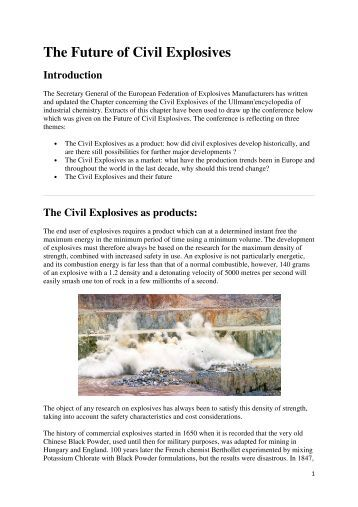 chemistry of explosives essay Here is the best resource for homework help with hlss 230 : chemistry of explosives at american military university find hlss230 study guides, notes, and.