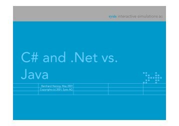 C# and .Net vs. Java