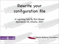 A Lightning Talk By Rich Bowen ApacheCon US, Atlanta, 2007