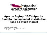 Apache Bigtop: 100% Apache Bigdata management distribution ...
