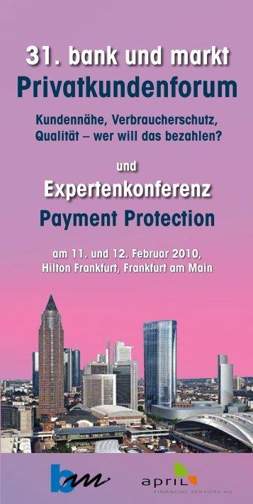31. bank und markt Privatkundenforum ... - APRIL Financial Services