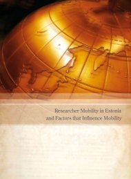 Researcher Mobility in Estonia and Factors that ... - Archimedes
