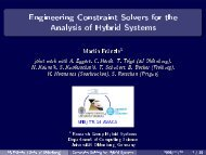 Engineering Constraint Solvers for the Analysis of Hybrid Systems
