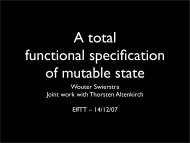 A total functional specification of mutable state