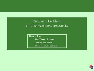 Recurrent Problems - Cs.ioc.ee