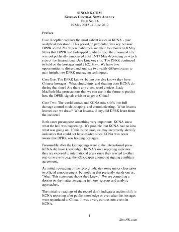 KCNA File No 16, China-Japan Edition -May - SINO-NK
