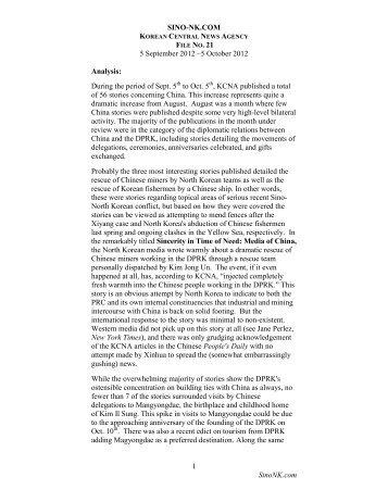KCNA File No 21 – Sept 5-Oct 5 - SINO-NK