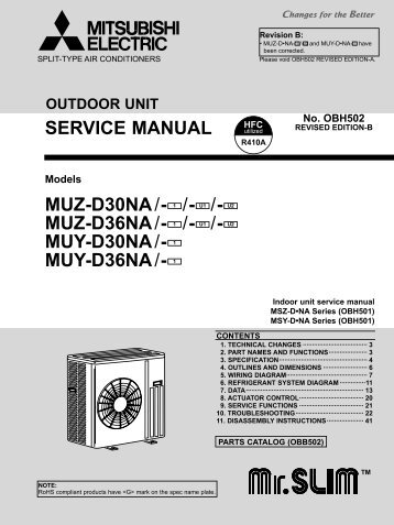 Service Manual - Mitsubishi Electric Cooling & Heating