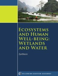 Ecosystems AND HUMAN WELL-BEING: WETLANDS AND WATER