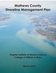 Mathews County Shoreline Management Plan - Center for Coastal ...