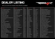 Here you are the list of dealers where RSV4R is available! - Aprilia