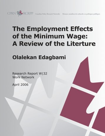 The Employment Effects of the Minimum Wage: A ... - Hussonet - Free
