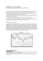 Le débat sur le taux de profit - Hussonet - Free