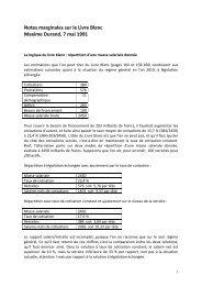 Notes marginales sur le Livre Blanc - Hussonet