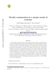 Wealth condensation in a simple model of economy