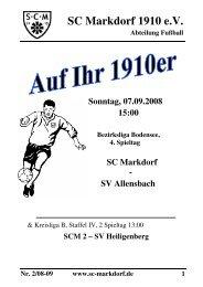 Stadionzeitschrift 07.09.2008 --> SCM I - SV Allensbach