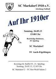 Stadionzeitschrift 26.05.2013 -- SCM I - SV Aach-Eigeltingen